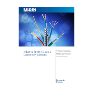 Industrial Ethernet Cable and Connectivity Solutions